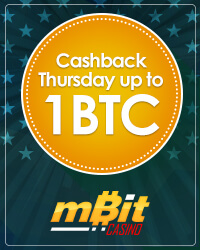 Cashback Thursday up to 1 BTC from mBit